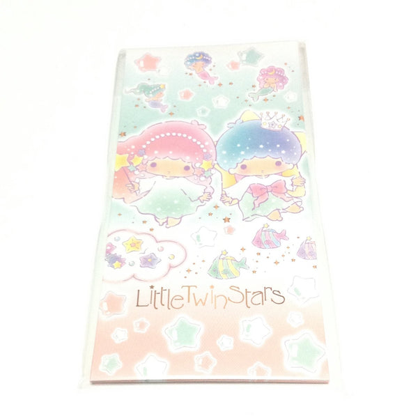 Little Twin Stars Wallet Type Petite Envelope and Sticker Set from Sanrio