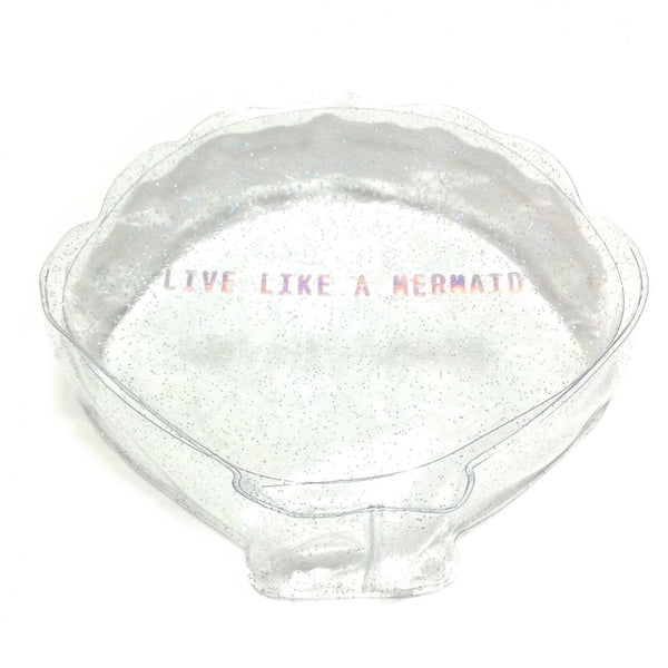 [Live Like a Mermaid] Sparkling Plastic Pouch (Shell) from Girl's Trend