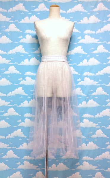 Long Tulle Skirt in Pink from SPINNS