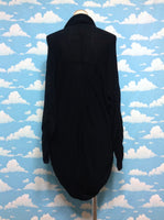 Loose Fit Fabric Cardigan in Black from Black Peace Now (for Men)
