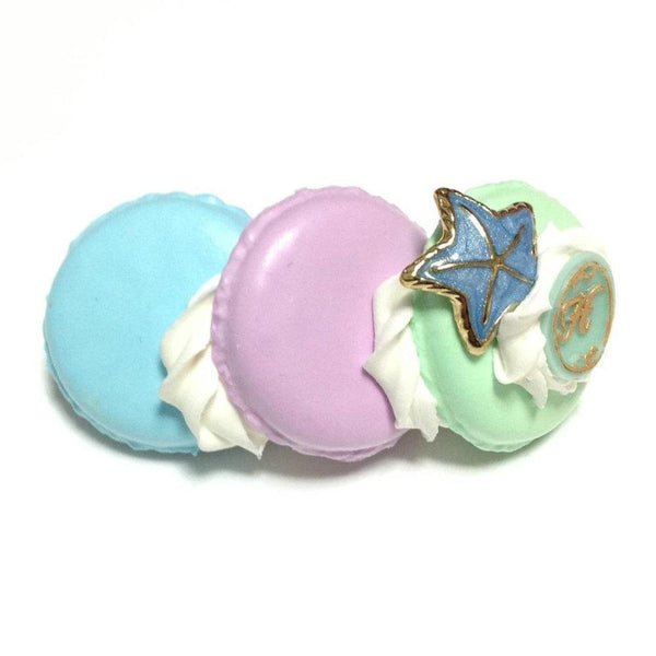 Macaron Mermaid Princess Barrette in Mint x Lavender x Sax from Hexenhaus