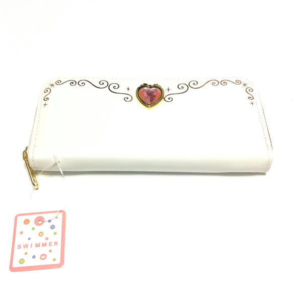 Magical Heart Long Wallet in Cream (Off White) from SWIMMER