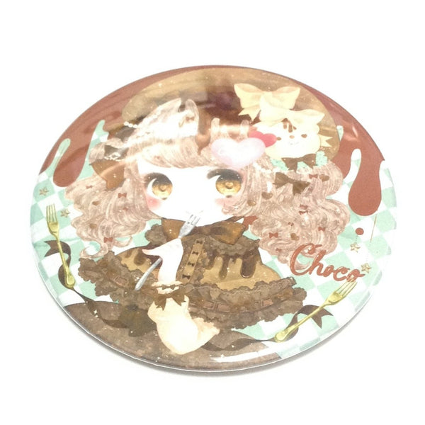 Melty Chocolate Girl with Cutlery Badge from Chocojam