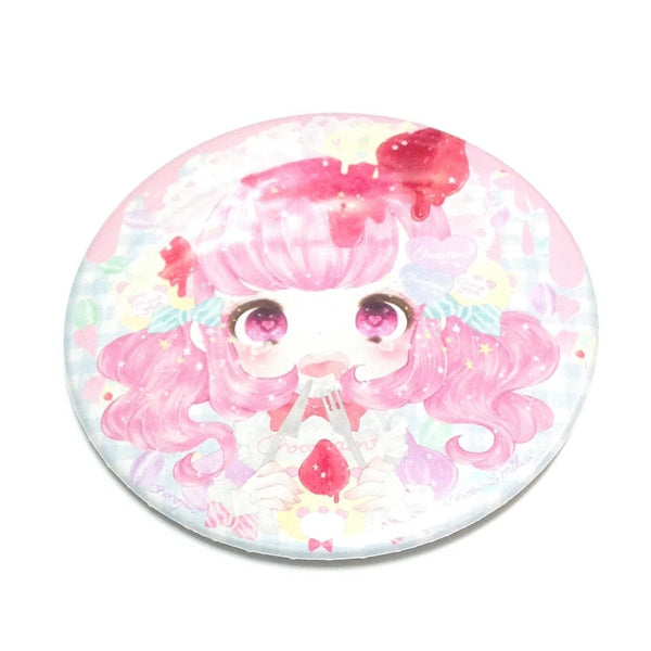 Melty Strawberry Cutlery Girl Badge from Chocojam