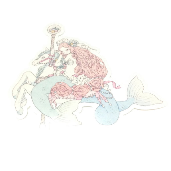Mermaid Go Round Sticker from Imai Kira