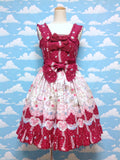 Merry Sweet Castle Print JSK in Red from Baby, the Stars Shine Bright