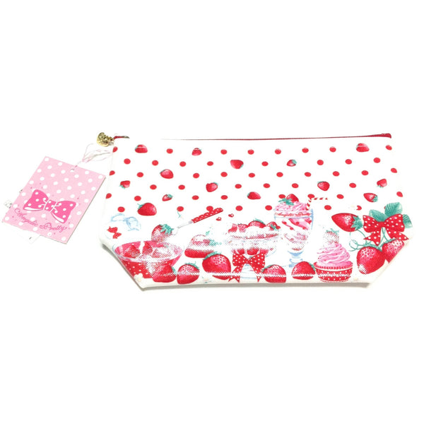 Milky Berry Pouch in White from Angelic Pretty