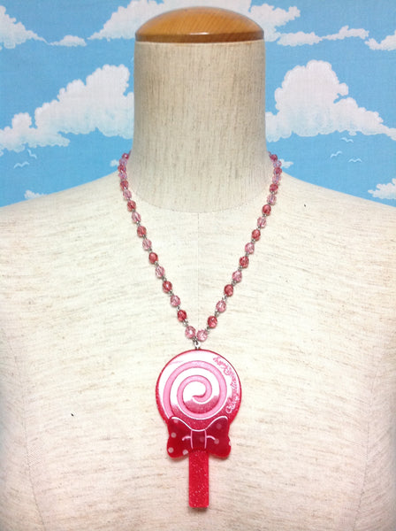Milky Candy Necklace in Red from Angelic Pretty