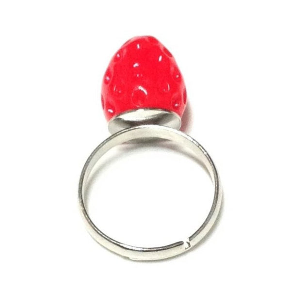 Mini Strawberry Ring in Red from Pastel Skies