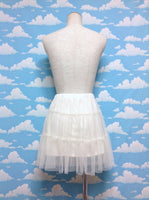 Mini Tulle Pannier in Offwhite