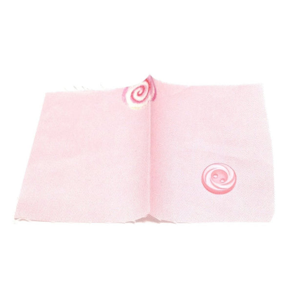 Miracle Candy Spare Button and Fabric Swatch in Pink from Angelic Pretty