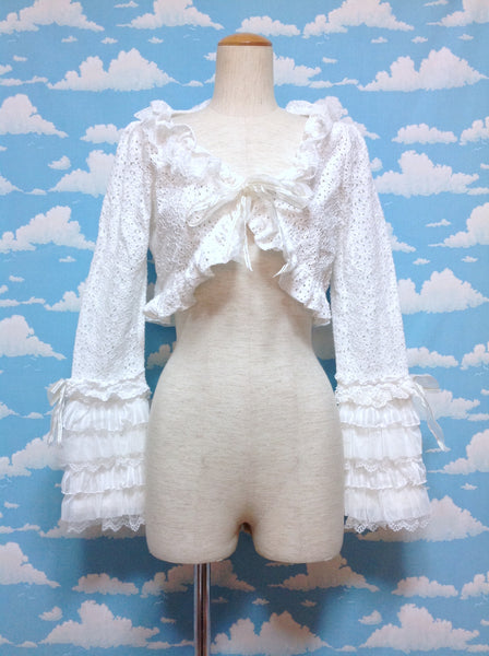Mon Petit Chouchou Frill Bolero in White from Baby, the Stars Shine Bright