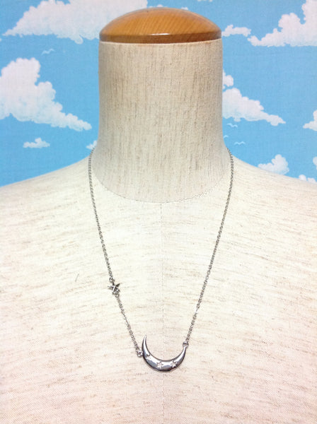 Moon and Stars Necklace in Silver from Paris Kid's