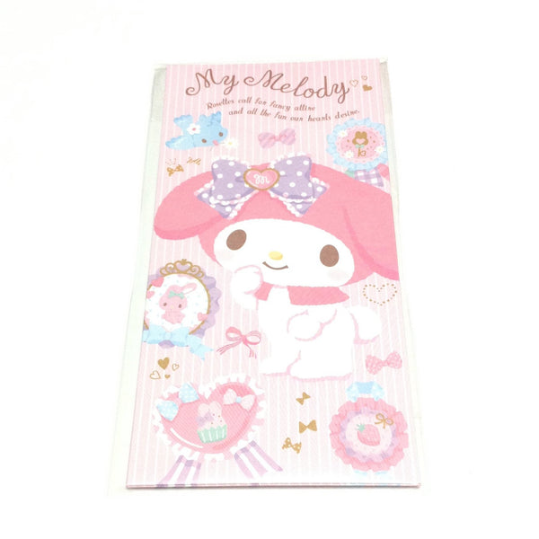 My Melody Wallet Type Petite Envelope and Sticker Set from Sanrio