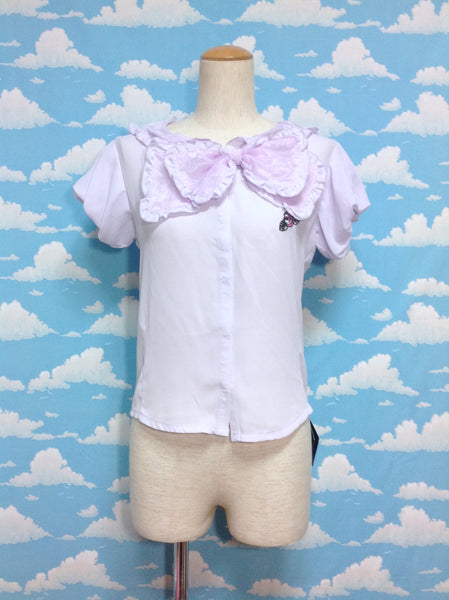 NF Yui Collaboration Blouse Vol. 4 in Lavender from Swankiss