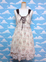 Old Rose Bouquet Decoration Lace JSK in Cream from Axes Femme