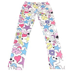 Pastel Comic Print Leggings in White from ACDC RAG