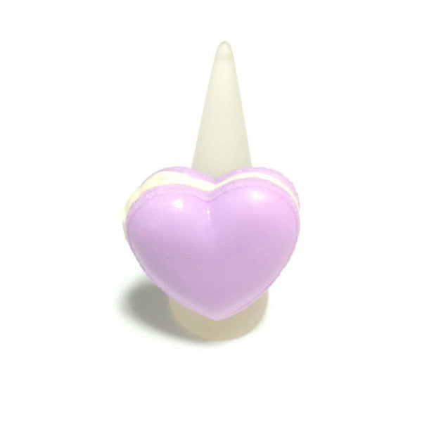 Pastel Heart Macaron Ring in Lavender from Pastel Skies