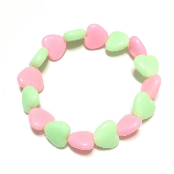 Pastel Love Candy Hearts Bracelet in Mint x Pink from Pastel Skies