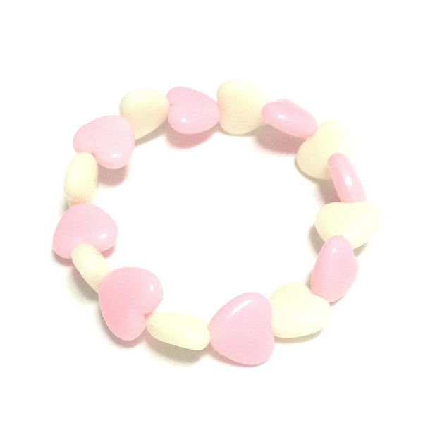 Pastel Love Candy Hearts Bracelet in Pink x Off White from Pastel Skies