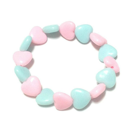 Pastel Love Candy Hearts Bracelet in Sax x Pink from Pastel Skies