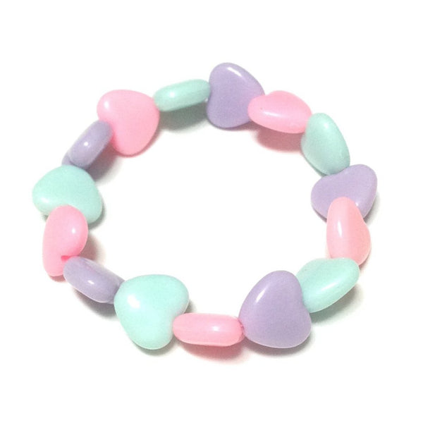 Pastel Love Candy Hearts Mini Bracelet in Lavender x Sax x Pink from Pastel