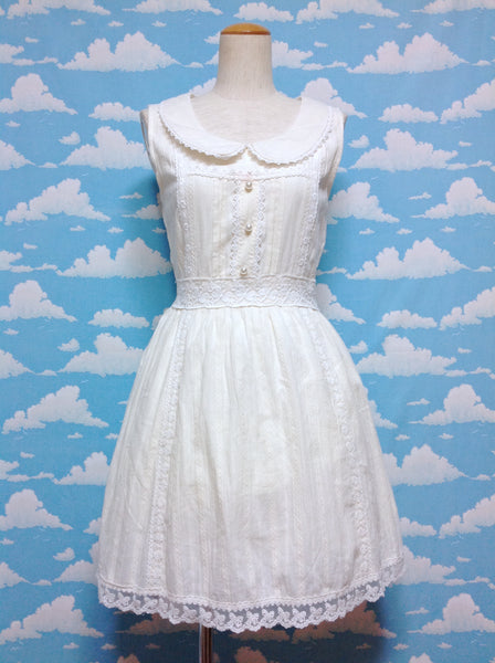 Pearl Button Lace Decoration JSK (Dress) in Ivory