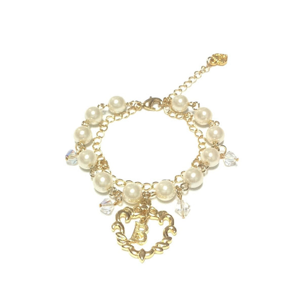 Pearl Logo Bracelet in Gold from Baby, the Stars Shine Bright