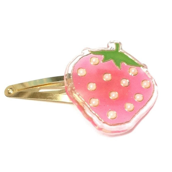 Pearl Strawberry Hair Clip in Pink from SWIMMER