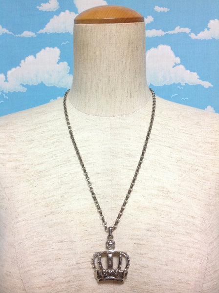 Petit Crown Necklace in Silver from Angelic Pretty