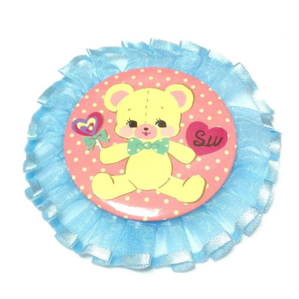 Sweet Badge, Frill (Bear) in Pink from SWIMMER
