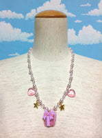 Present Necklace in Lavender from Angelic Pretty
