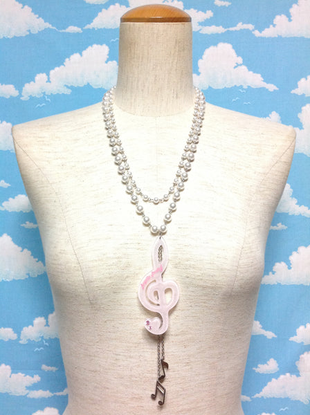 Pretty Melody Necklace in Pink from Angelic Pretty