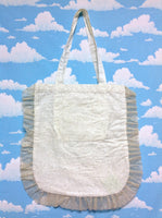 Prism Tote Bag (Square) in White from SWIMMER