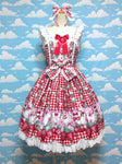 Ribbon Berry Bunny Special JSK Set in Red from Angelic Pretty