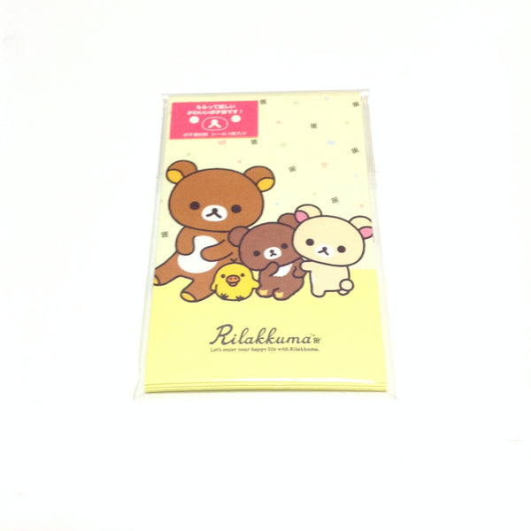 Rilakkuma Petit Envelope and Sticker Set from San-x