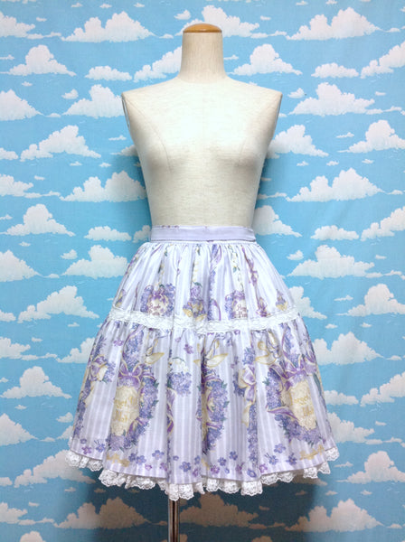 Romantic Little Garden Skirt in Lavender from Angelic Pretty