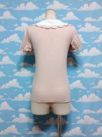 Rose Dot Collar Cutsew in Powder Pink x Ivory from An Another Angelus