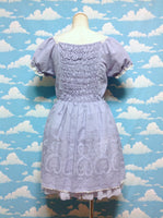 Rose Print Dress in Lavender from Axes Femme