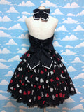 Royal Cards Magician JSK in Black from Angelic Pretty