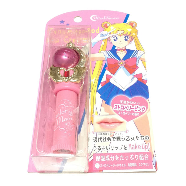 Sailor Moon 25th Anniversary Miracle Romance Cutie Moon Rod Lip Cream in Strawberry Pink from Creer Beaute