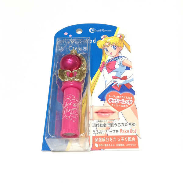 Sailor Moon 25th Anniversary Miracle Romance Cutie Moon Rod Lip Cream in Cherry Red from Creer Beaute