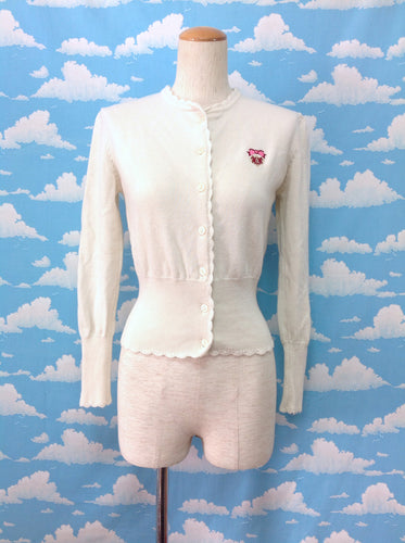 School Cardigan in Ivory from Baby, the Stars Shine Bright