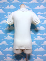 Seashell Collar Cutsew in Offwhite from F.i.n.t