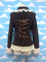 Short Coat with Pompom Fur in Brown from Alice and the Pirates