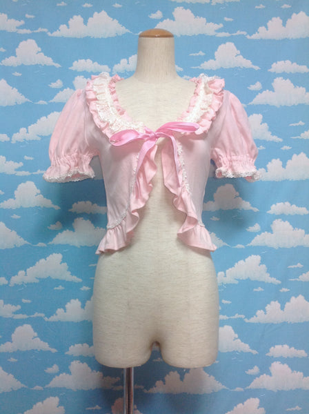 Short Sleeve Frill Bolero in Pink from Baby, the Stars Shine Bright