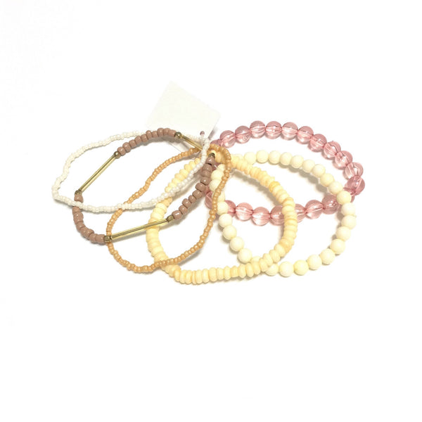 Simple Bracelet Set in Nude from Paris Kid's