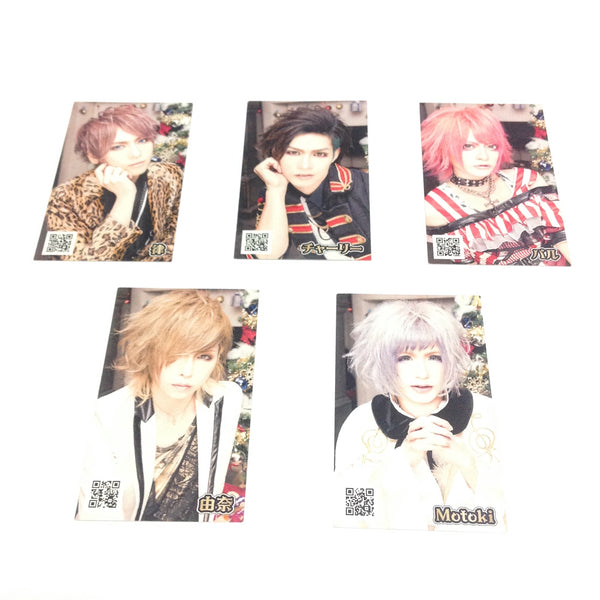 Smile Berry Cards, Set of 5 (Charlie, Ritsu, Motoki, Yuna, Paru)