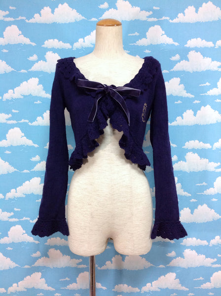 Snow Crystal Bolero in Navy from Baby, the Stars Shine Bright
