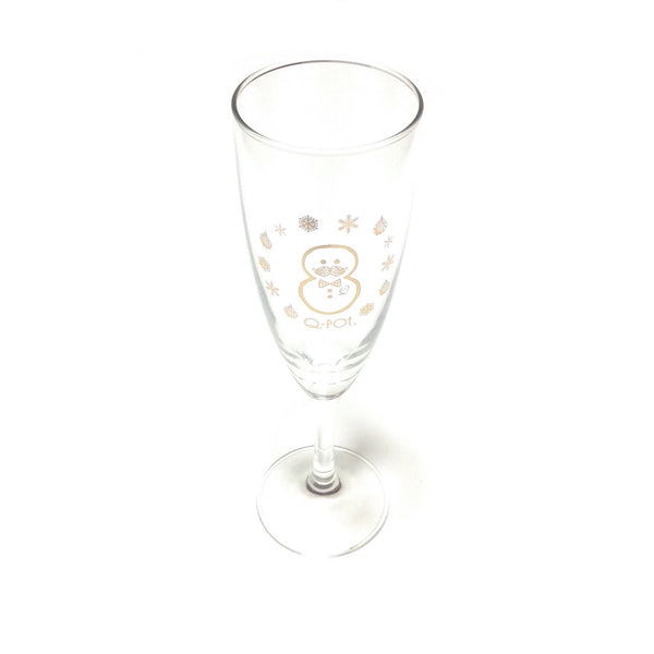 Snowman Novelty Champagne Glass from Q-Pot